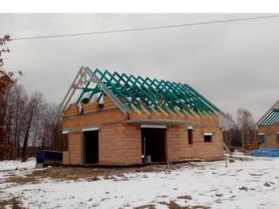 Wykonanie konstrukcji dachu - 02.2018